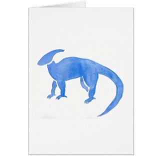Blue Hadrosaur Card