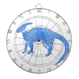 Blue Hadrosaur Dartboard