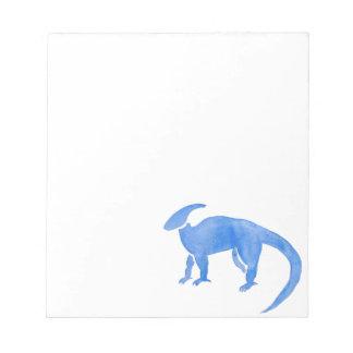 Blue Hadrosaur Notepad