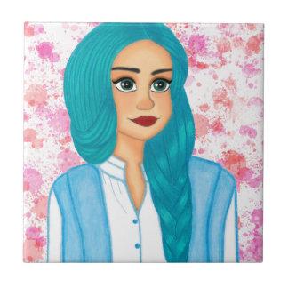 Blue Hair Ceramic Tile