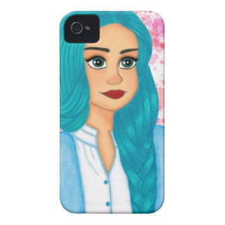 Blue Hair iPhone 4 Cover