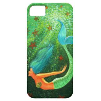 Blue Hair Mermaid fantasy art iPhone 5 case