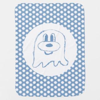 Blue & Half Drop  Pattern 鬼 鬼 Baby Blanket