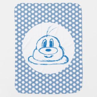 Blue & Half Drop  Pattern 鲍 鲍 Baby Blanket