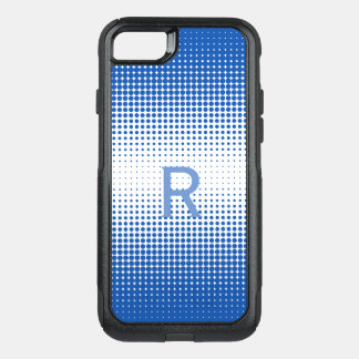 Blue Half Tone Dots iPhone 8 Otterbox Case