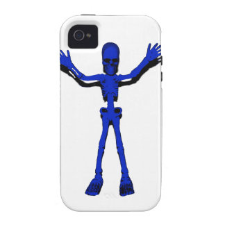 Blue Halloween Skeleton Case For The iPhone 4