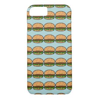 Blue Hamburger Patterned iPhone Case