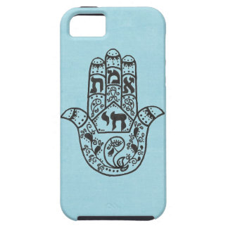 Blue Hamsa iPhone 5 Case