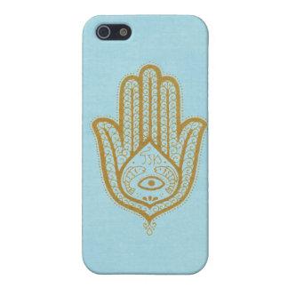 Blue Hamsa iPhone 5 Cases