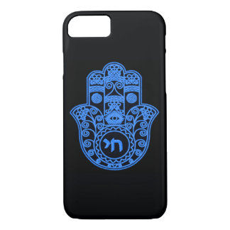 Blue Hamsa Symbol iPhone 7 Case