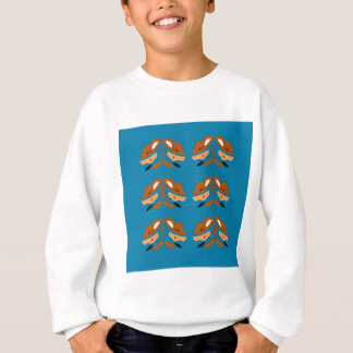 Blue hand drawn Orient Ornaments. Original Designs Sweatshirt