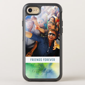 Blue Hand Painted Watercolor | Add Photo OtterBox Symmetry iPhone 8/7 Case