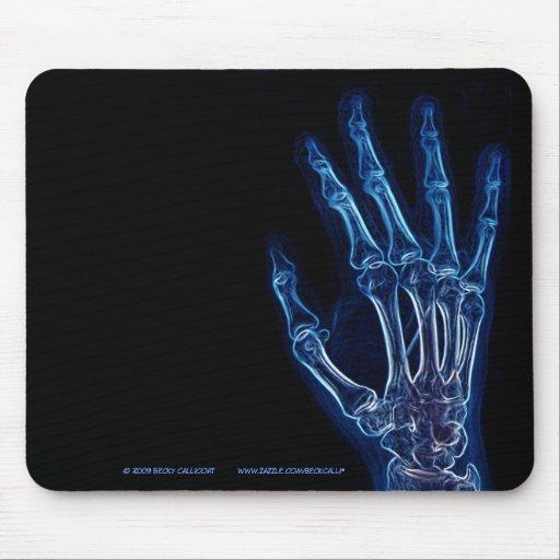 Blue Hand X-ray  mousepad
