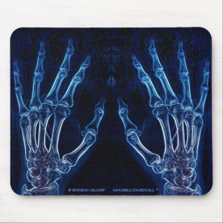 Blue Hands X-ray mousepad (version 2)