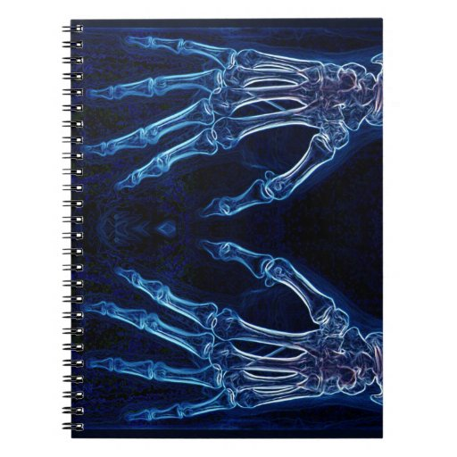 Blue Hands X-ray notebook