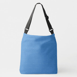 Blue Hannakah Squiggly Squares Crossbody Bag