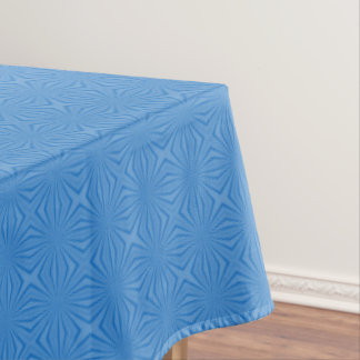 Blue Hannakah Squiggly Squares Tablecloth