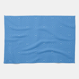 Blue Hannakah Squiggly Squares Tea Towel