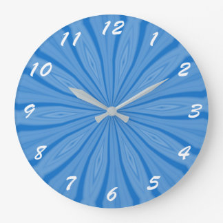 Blue Hanukkah Streaks Large Clock
