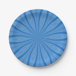 Blue Hanukkah Streaks Paper Plate