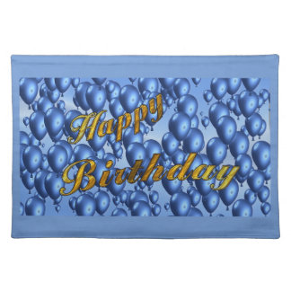 Blue Happy Birthday Placemats
