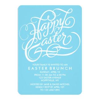 BLUE HAPPY EASTER | EASTER BRUNCH INVITATION