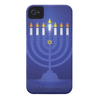 blue happy hanukkah Case-Mate iPhone 4 case