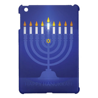 blue happy hanukkah iPad mini cases