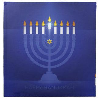 blue happy hanukkah napkin