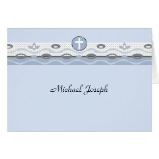 Blue Harmony Photo Thank You Notecard Note Card