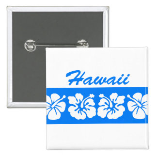 Blue Hawaii 15 Cm Square Badge