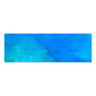 Blue Hawaii Double-Sided Mini Business Cards (Pack Of 20)