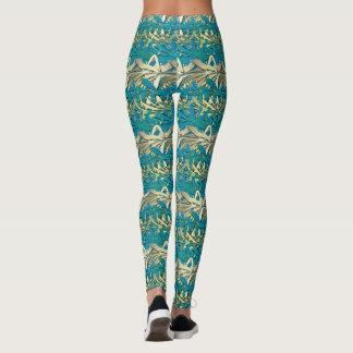 Blue Hawaii Golden Chrome leggings