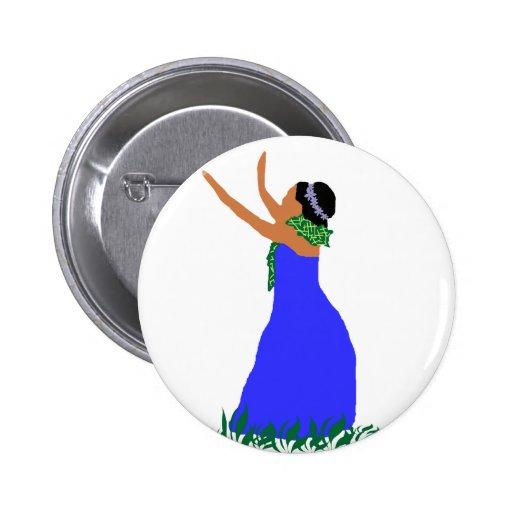 Blue Hawaii  Hula Dancer button