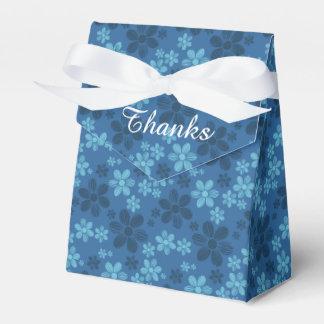 Blue Hawaiian Flowers Tent Favor Box