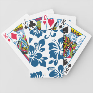 Blue Hawaiian Hibiscus Poker Deck