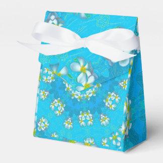 Blue Hawaiian Plumeria Lei Tent Favor Box
