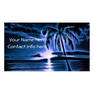 Blue Hawaiian Sunset Business Card Templates