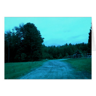 Blue Haze Blank Greeting Card