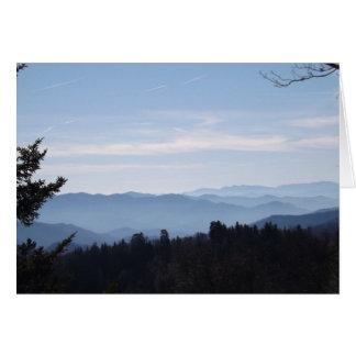 Blue Haze Smoky Mountains Greeting Card