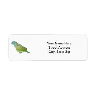 Blue Head Pionus Parrot Return Address Label