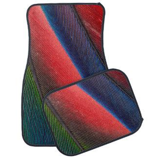 Blue-headed Pionus feathers Floor Mat