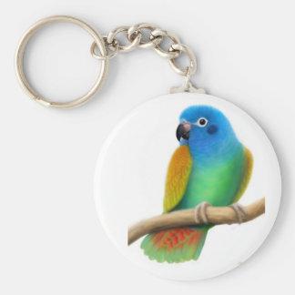 Blue Headed Pionus Parrot Keychain