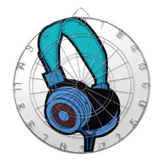 Blue Headphone Dartboard