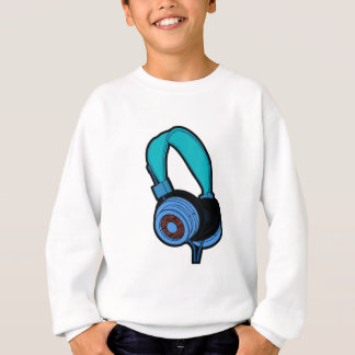 Blue Headphone Sweatshirt