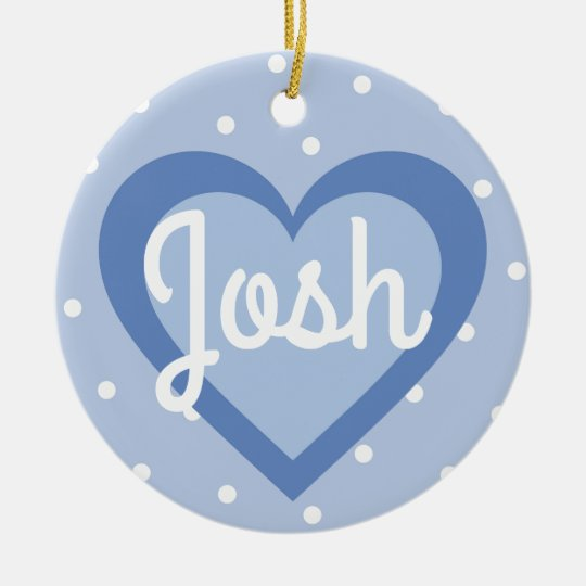 Blue Heart/1st Christmas Dble-sided Ornament