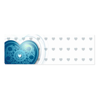 Blue heart, bookmark or card pack of skinny business cards