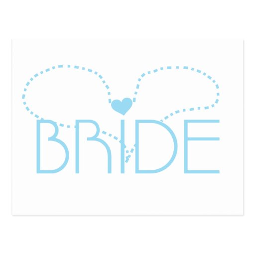 Blue Heart Bride T-shirts and Gifts Post Card