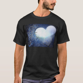Blue Heart Design T-Shirt