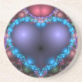 Blue Heart Drink Coaster